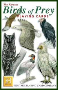 Heritage Playing Card Co. - Boxed Set of Playing Cards + 2 Jokers - Birds of Prey