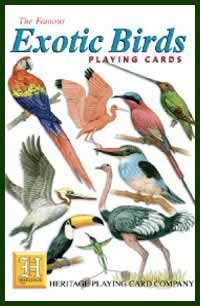 Heritage Playing Card Co. - Boxed Set of Playing Cards + 2 Jokers - Exotic Birds