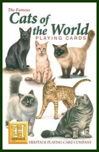 Heritage Playing Card Co. - Boxed Set of Playing Cards + 2 Jokers - Cats of the World