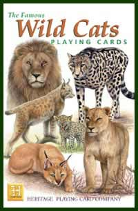 Heritage Playing Card Co. - Boxed Set of Playing Cards + 2 Jokers - Wild Cats