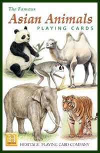 Heritage Playing Card Co. - Boxed Set of Playing Cards + 2 Jokers - Asian Animals
