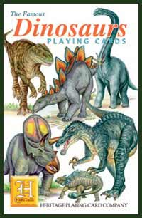 Heritage Playing Card Co. - Boxed Set of Playing Cards + 2 Jokers - Dinosaurs