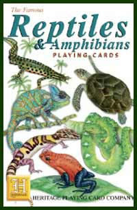 Heritage Playing Card Co. - Boxed Set of Playing Cards + 2 Jokers - Reptiles & Amphibians