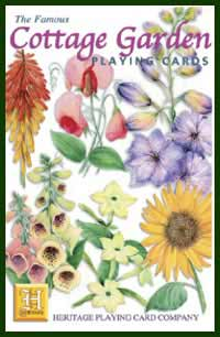 Heritage Playing Card Co. - Boxed Set of Playing Cards + 2 Jokers - Cottage Garden