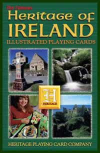 Heritage Playing Card Co. - Boxed Set of Playing Cards + 2 Jokers - Heritage of Ireland