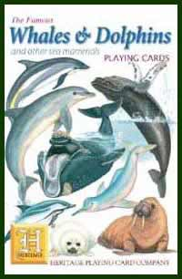 Heritage Playing Card Co. - Boxed Set Of Playing Cards + 2 Jokers - Whales & Dolphins