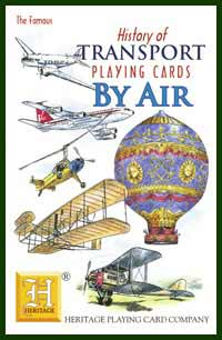 Heritage Playing Card Co. - Boxed Set of Playing Cards + 2 Jokers - History of Transport - By Air
