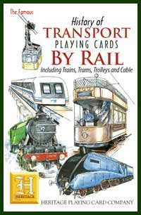 Heritage Playing Card Co. - Boxed Set of Playing Cards + 2 Jokers - History of Transport - By Rail