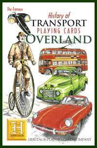 Heritage Playing Card Co. - Boxed Set of Playing Cards + 2 Jokers - History of Transport - Overland