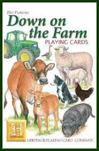 Heritage Playing Card Co. - Boxed Set of Playing Cards + 2 Jokers - Down on the Farm