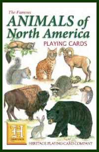 Heritage Playing Card Co. - Boxed Set of Playing Cards + 2 Jokers - Animals of North America