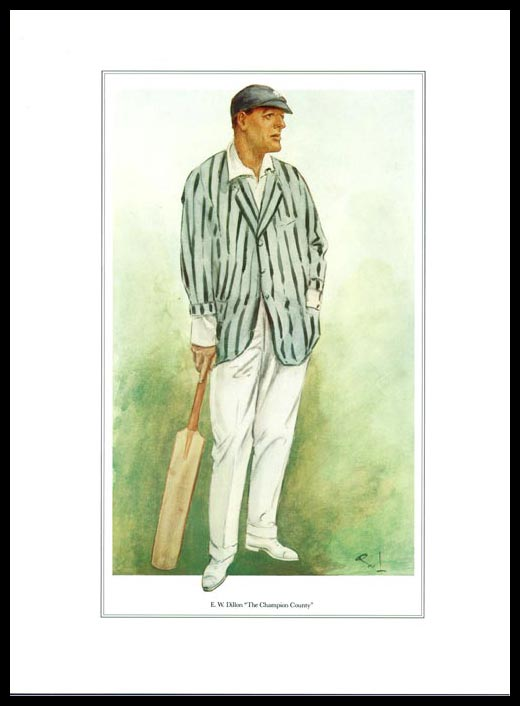 Pack Of 20 Prints - Vanity Fair Reprints - From Our Set Of 8 Great Cricketers - E. W. Dillon