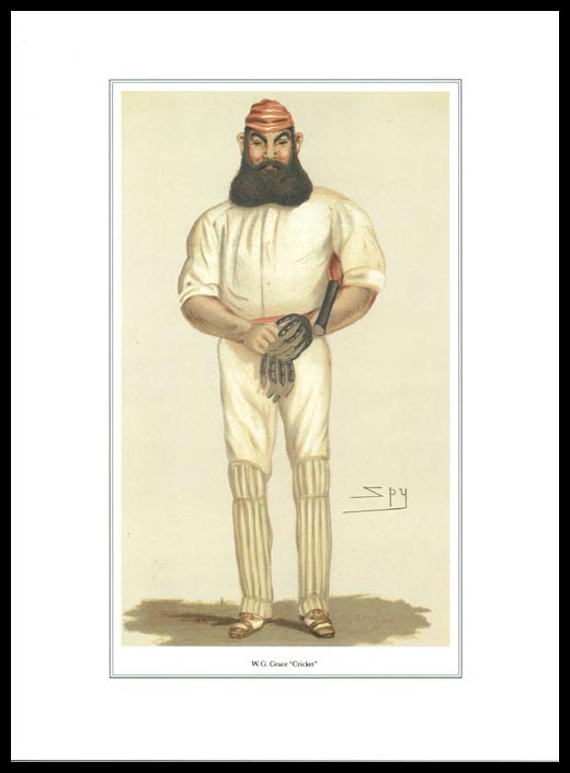 Pack Of 20 Prints - Vanity Fair Reprints - From Our Set Of 8 Great Cricketers - W. G. Grace
