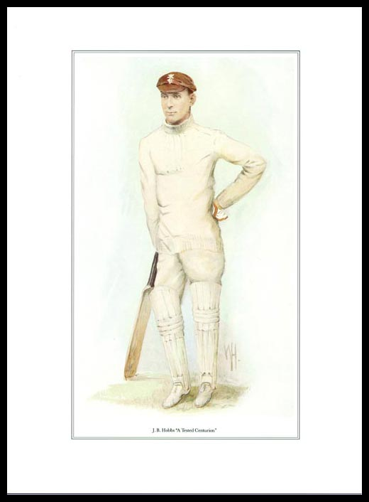 Pack Of 20 Prints - Vanity Fair Reprints - From Our Set Of 8 Great Cricketers - J. B. Hobbs