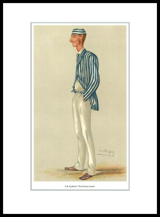 Pack Of 20 Prints - Vanity Fair Reprints - From Our Set Of 8 Great Cricketers - F.r. Spofforth