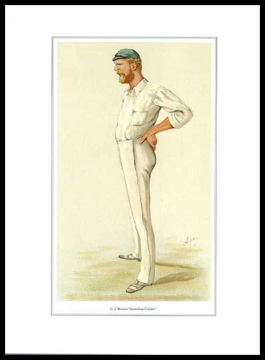 Pack Of 20 Prints - Vanity Fair Reprints - From Our Set Of 8 Great Cricketers - G. J. Bonnor