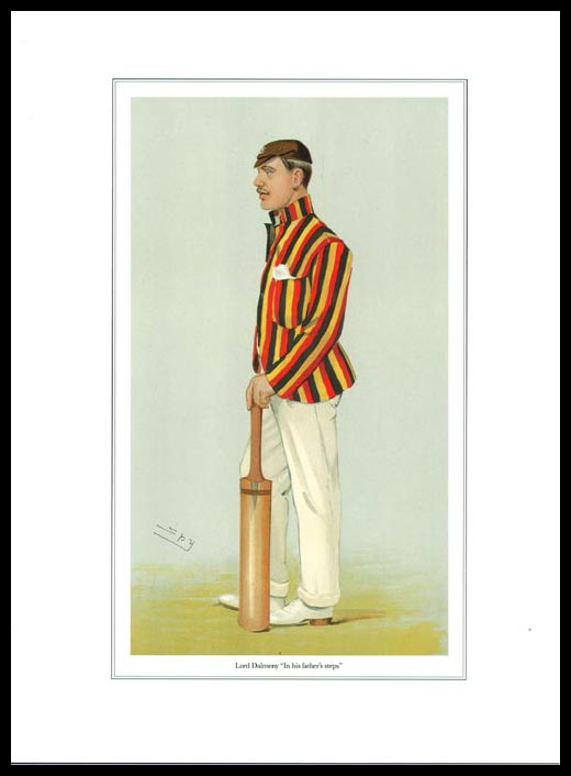 Pack Of 20 Prints - Vanity Fair Reprints - From Our Set Of 8 Great Cricketers - Lord Dalmeny