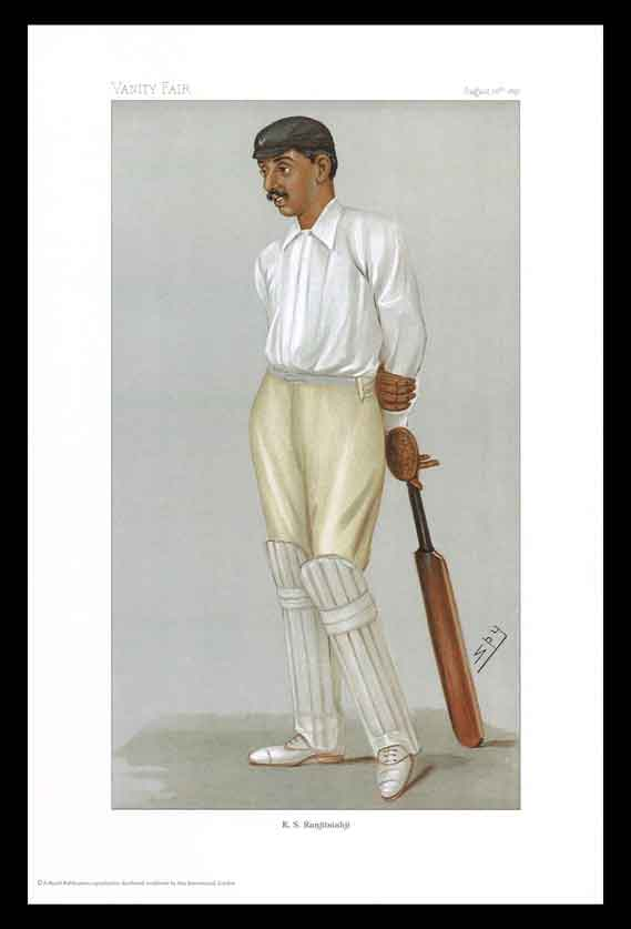 Pack of 20 Prints - Vanity Fair Reprints - From our set of 6 Fantastic Cricketers - K. S. Ranjitsinhji