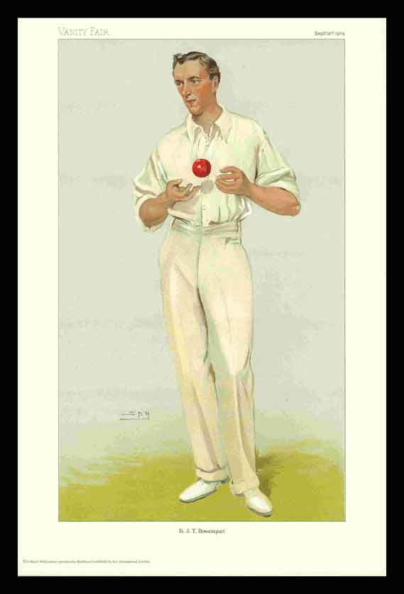 Pack of 20 Prints - Vanity Fair Reprints - From our set of 6 Fantastic Cricketers - B. J. T. Bosanquet