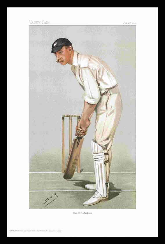 Pack of 20 Prints - Vanity Fair Reprints - From our set of 6 Fantastic Cricketers - Hon. F. S. Jackson