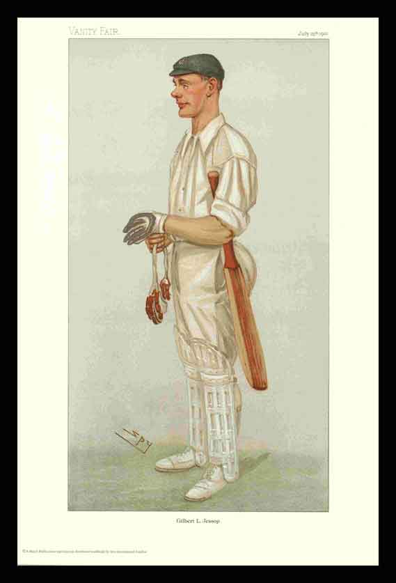 Pack Of 20 Prints - Vanity Fair Reprints - From Our Set Of 6 Fantastic Cricketers - Gilbert L. Jessop