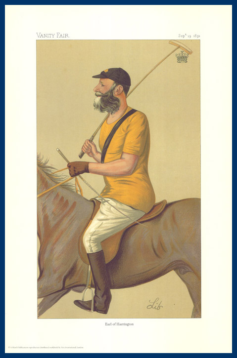 Pack Of 20 Prints - Vanity Fair & The World Reprints - From Our Fantastic Set Of 6 Polo Players - Earl Of Harrington