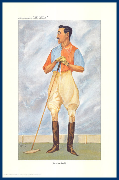 Pack Of 20 Prints - Vanity Fair & The World Reprints - From Our Fantastic Set Of 6 Polo Players - Riversdale Grenfell