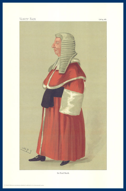 Pack Of 20 Prints - Vanity Fair Reprints - From Our Fantastic Set Of 8 Judges - Sir Ford North
