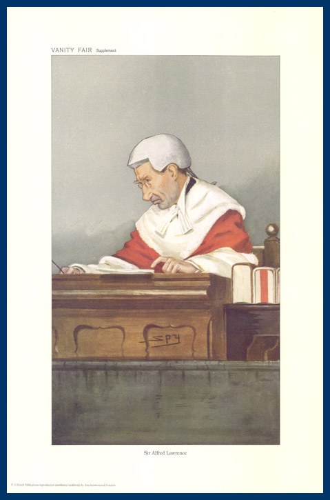 Pack Of 20 Prints - Vanity Fair Reprints - From Our Fantastic Set Of 8 Judges - Sir Alfred Lawrence