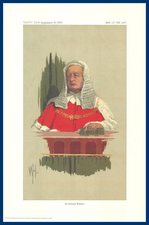 Pack Of 20 Prints - Vanity Fair Reprints - From Our Fantastic Set Of 8 Judges - Sir Richard Webster