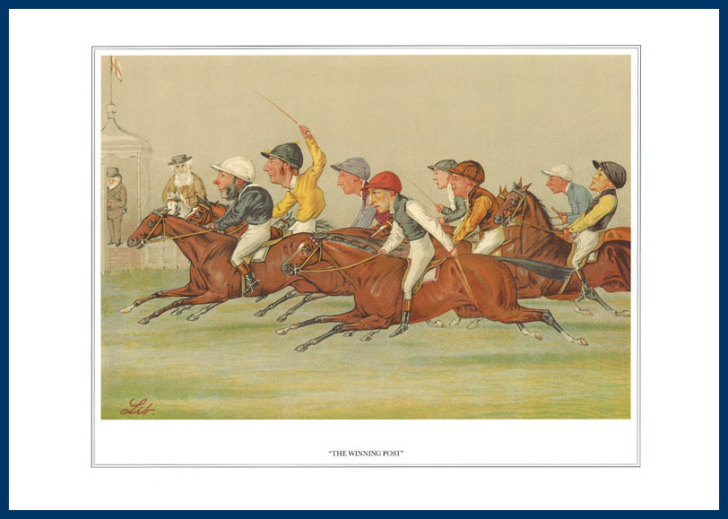 Pack Of 20 Prints - Vanity Fair Reprints - From Our Fantastic Set Of 16 Racehorses - The Winning Post