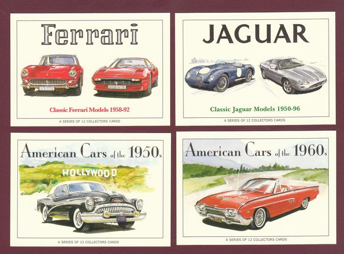 Rogerstock Ltd. - Any 20 Sets Of 13 Cards Of Your Choice - Ferrari / Jaguar / American Cars Of The 50's & American Cars Of The 6