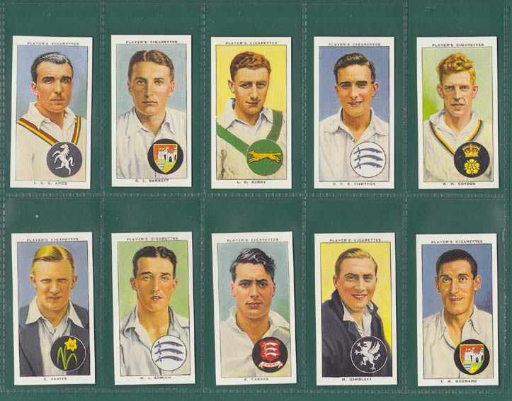 Card Collectors Society - Set Of 50 Player's ' Cricketers 1938 ' Cards