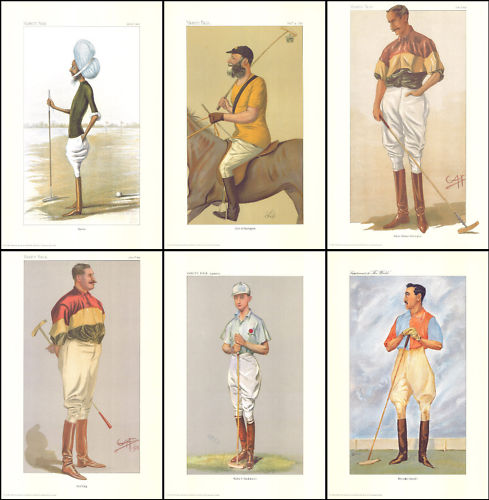 Trade Package - 10 Sets Of 6 Polo Players Of Vanity Fair - Fantastic Repro Prints