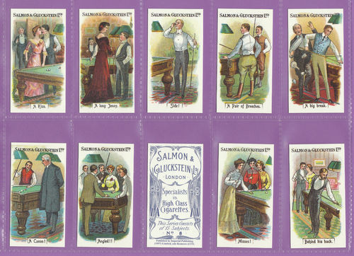 Imperial Publishing Ltd - Set Of 15 Salmon & Gluckstein ' Billiard Terms ' Cards