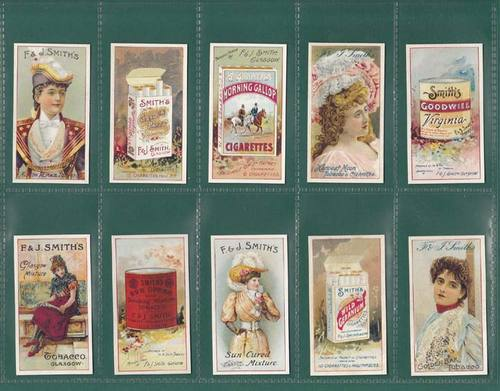 Nostalgia classics - set of 25 - f & j smith ' advertisement cards ' cards