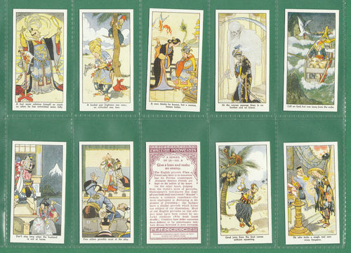 Card Collectors Society - Set Of 25 Churchman ' Eastern Proverbs ' Cards