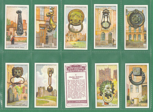 Card Collectors Society - Set Of 25 Churchman ' Int'g Door Knockers ' Cards