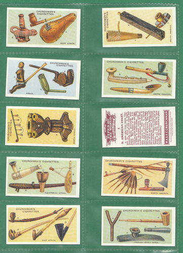 Card Collectors Society - Set Of 25 Churchman ' Pipes Of The World ' Cards