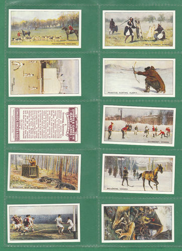 Card Collectors Society - Set Of 25 E. R. & Bigg ' Sports & Games ' Cards