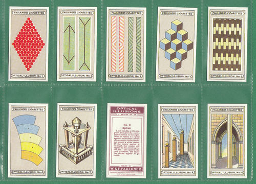 Card Collectors Society - Set Of 25 Faulkner ' Optical Illusions ' Cards
