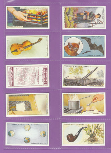 Card Collectors Society - Set Of 25 Lambert & Butler ' Common Fallacies ' Cards