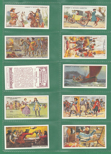 Card Collectors Society - Set Of 25 Lambert & Butler ' Pirates & Highway ' Cards