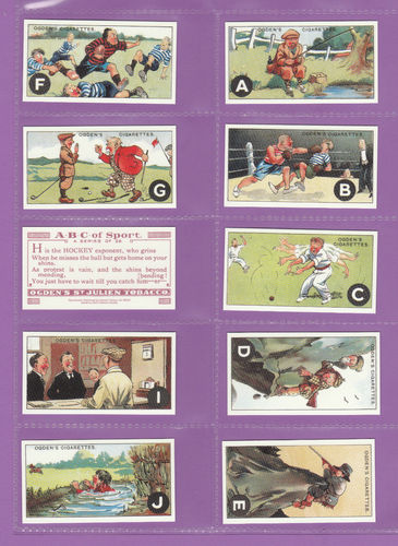 Card Collectors Society - Set Of 25 Ogden's ' A.b.c. Of Sport ' Cards