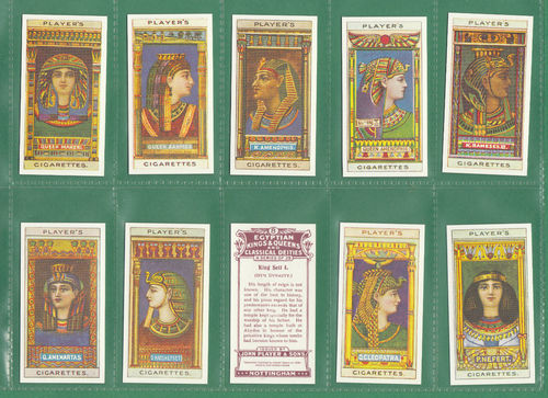 Card Collectors Society - Set Of 25 Player's ' Egyptian Kings & Queens ' Cards