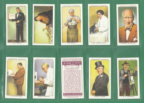 Card Collectors Society - Set Of 50 Churchman ' In Town Tonight ' Cards