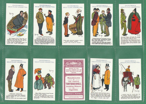 Card Collectors Society - Set Of 50 Churchman ' Phil May Sketches ' Cards
