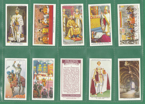 Card Collectors Society - Set Of 50 Churchman ' The King's Coronation ' Cards