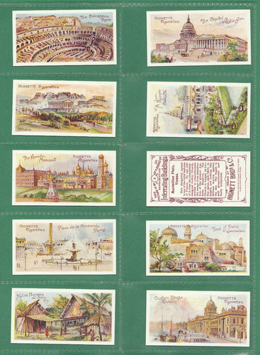 Card Collectors Society - Set Of 50 Hignett ' Interesting Buildings ' Cards
