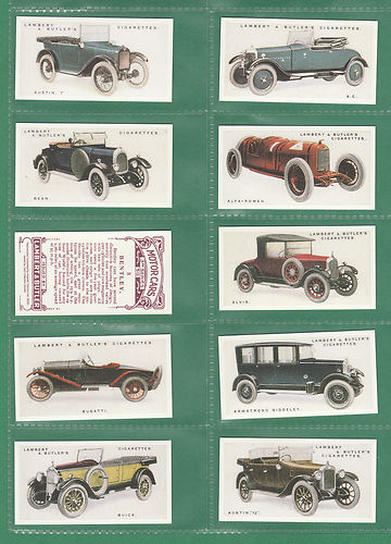 Card Collectors Society - Set Of 50 Lambert & Butler ' Motor Cars 3rd ' Cards